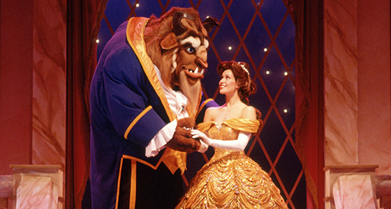 Beauty and the Beast at Be Our Guest restaurant at Magic Kingdom park