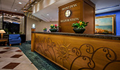 The Front Desk and Registration counter of Disneys Paradise Pier Hotel