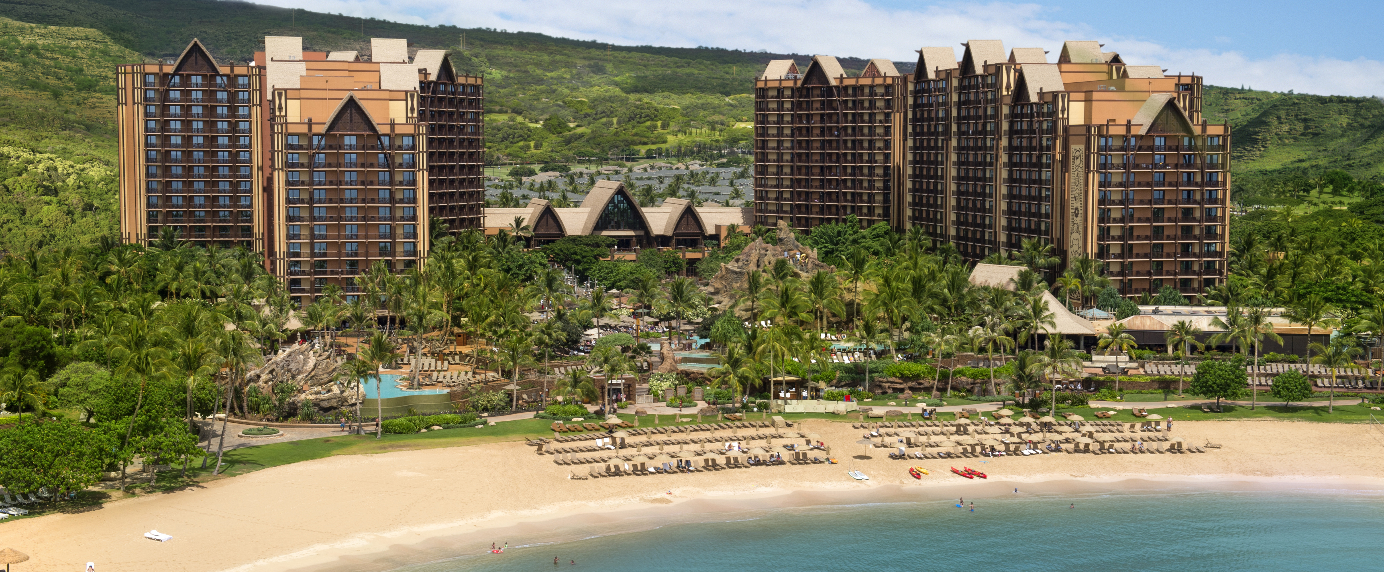 Aulani, A Disney Resort & Spa, located on Ko Olina Beach in O'ahu