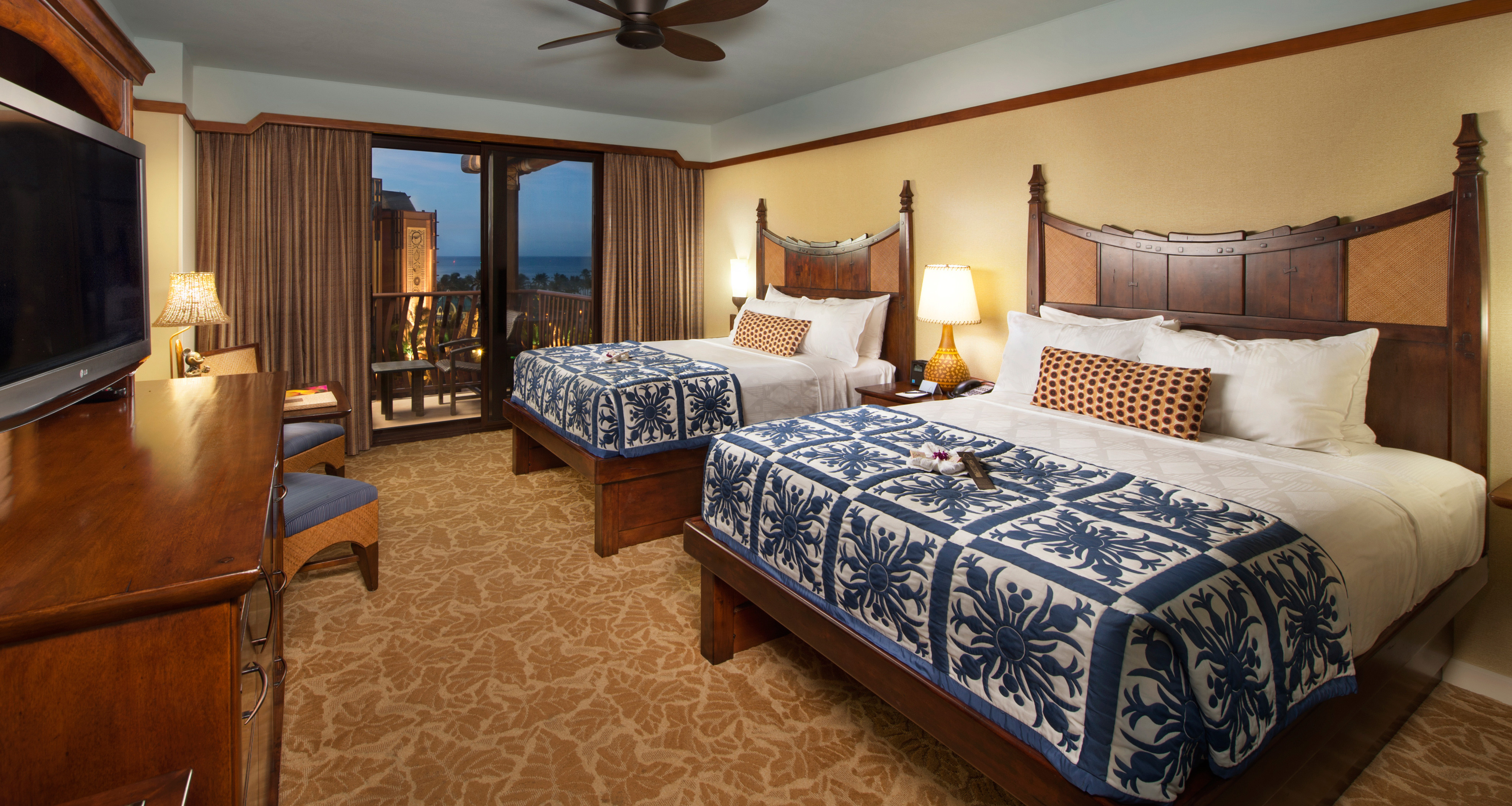 A standard room at Aulani with 2 queen beds. Oahu Hotel Rooms   Suites   Aulani Hawaii Resort   Spa