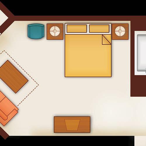 Aulani 1 Bedroom Villa Layout