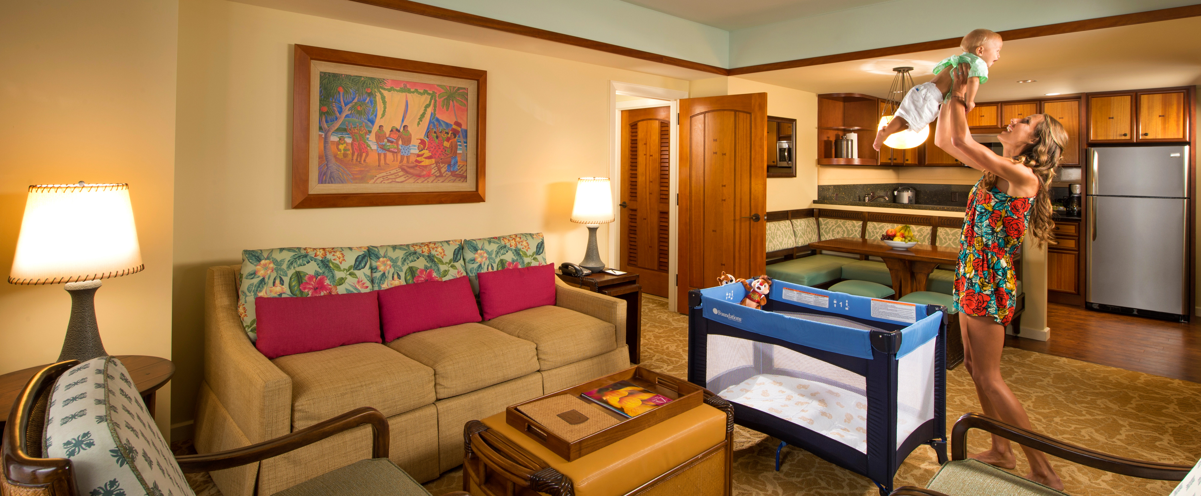 Two bedroom villa aulani hawaii resort spa for Rooms to go living room