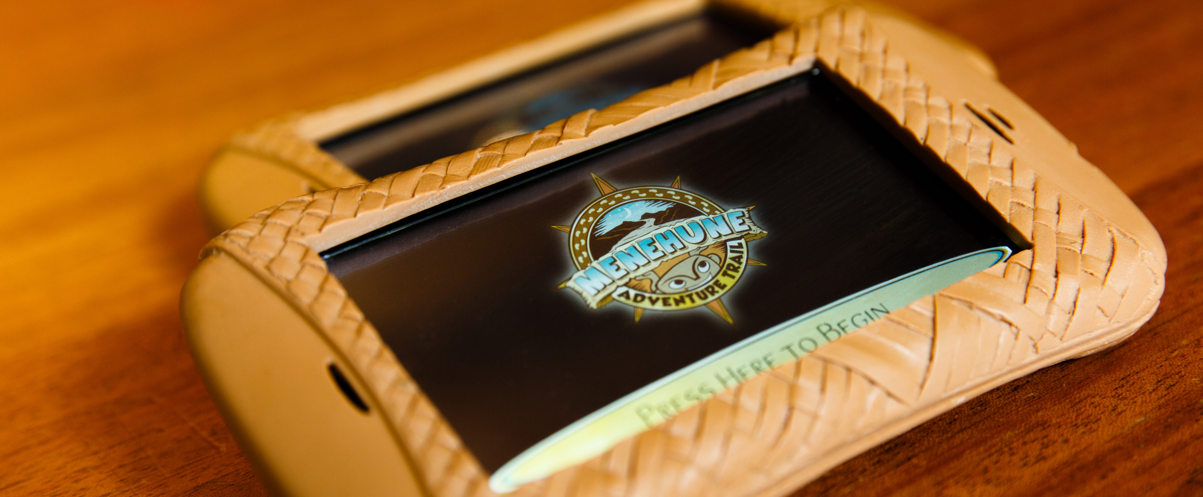 The handheld device that provides clues to young Guests on the Menehune Adventure Trail scavenger hunt