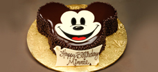 Mickey-Shaped Celebration Cake