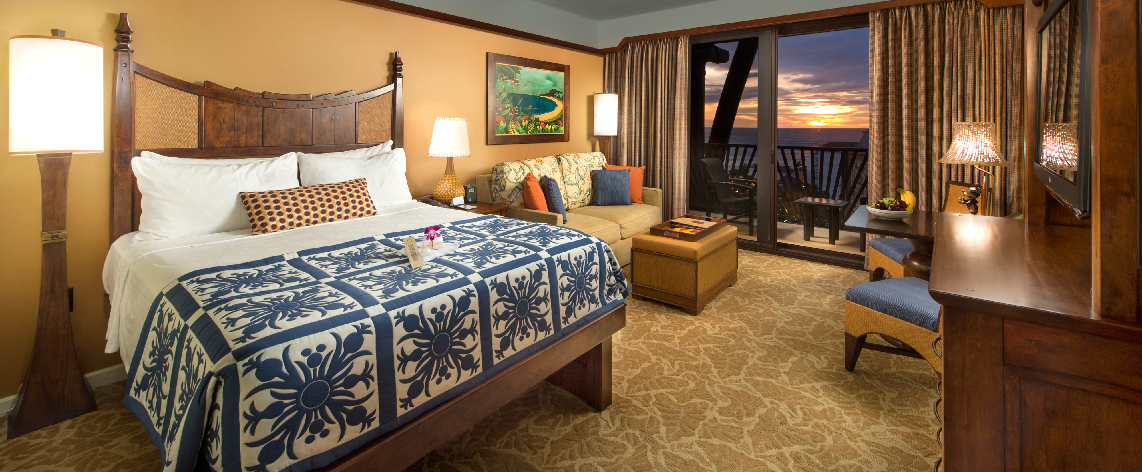 Standard hotel rooms aulani hawaii resort spa 4 beds in one room