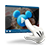 An illustration of a Mickey Mouse hand icon touching a play button on a floating computer video player